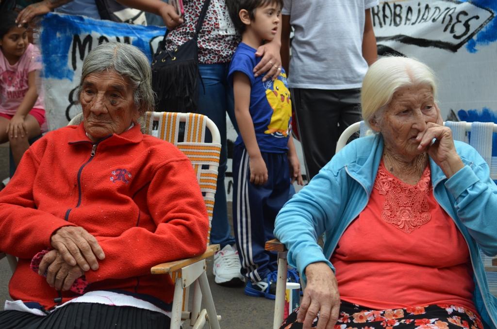 Jubilados en protesta frente al Anses, en diciembre pasado.