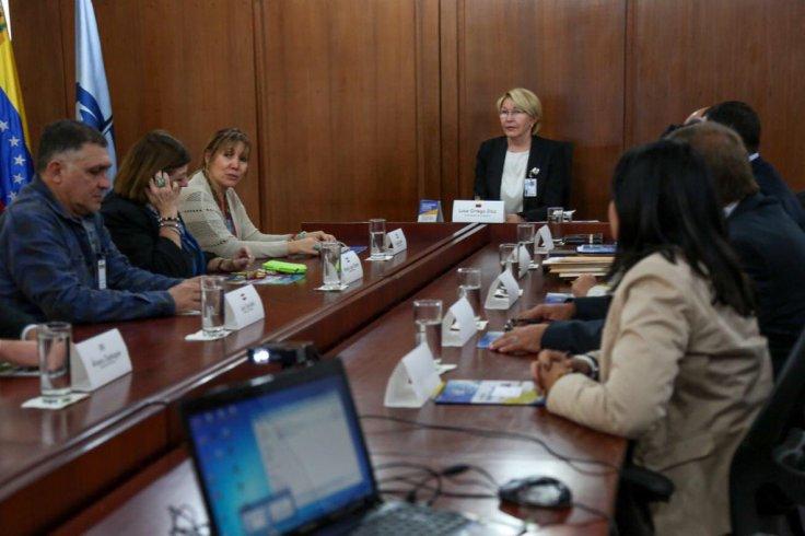 Cecilia Britto junto a la fiscal general de venezuela Luisa Ortega Díaz