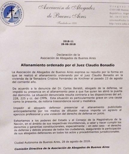 nota asociacion de abogados bonadio allanamientos.jpg