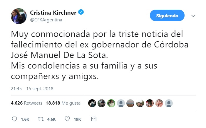 twitt CFK