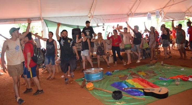 Ceremonia en el Campamento