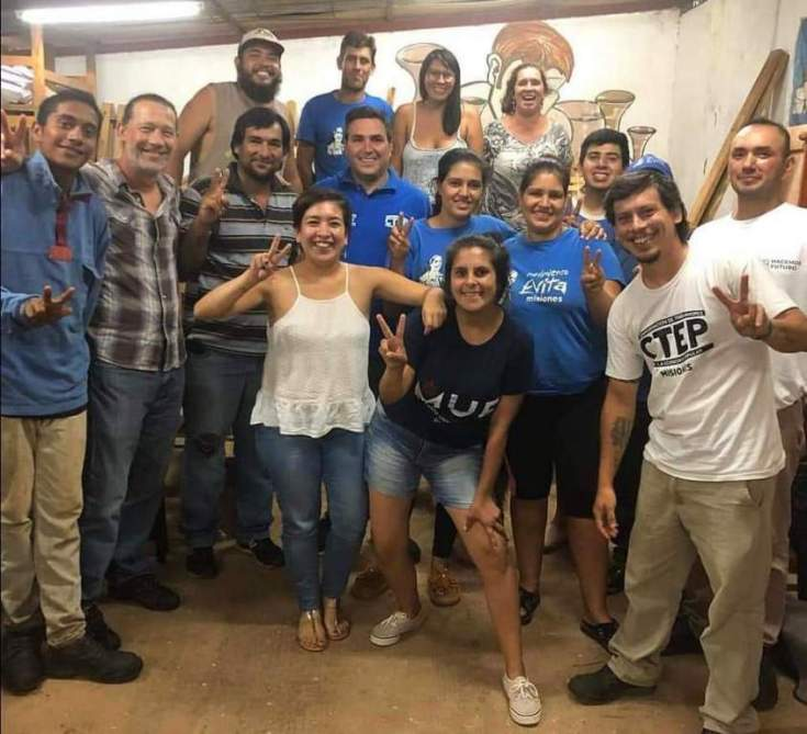 Gildo Onorato se reunió con militantes del Movimiento Evita Misiones