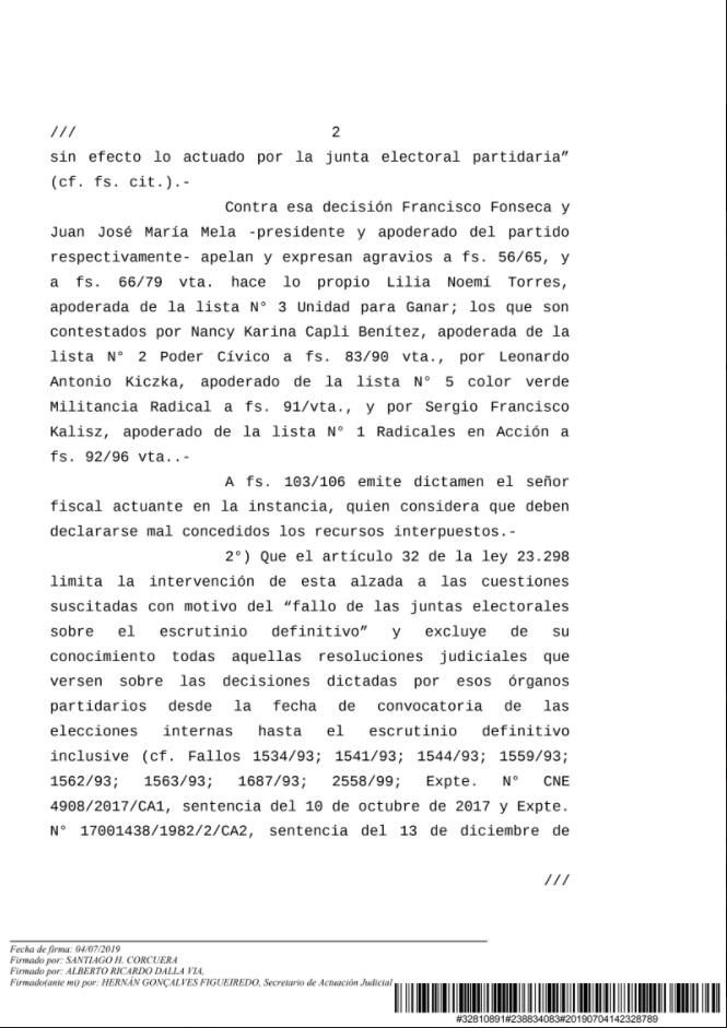 CAPTURA NOTIFICACION CAMARA NACIONAL ELECTORAL TEMA UCR 3