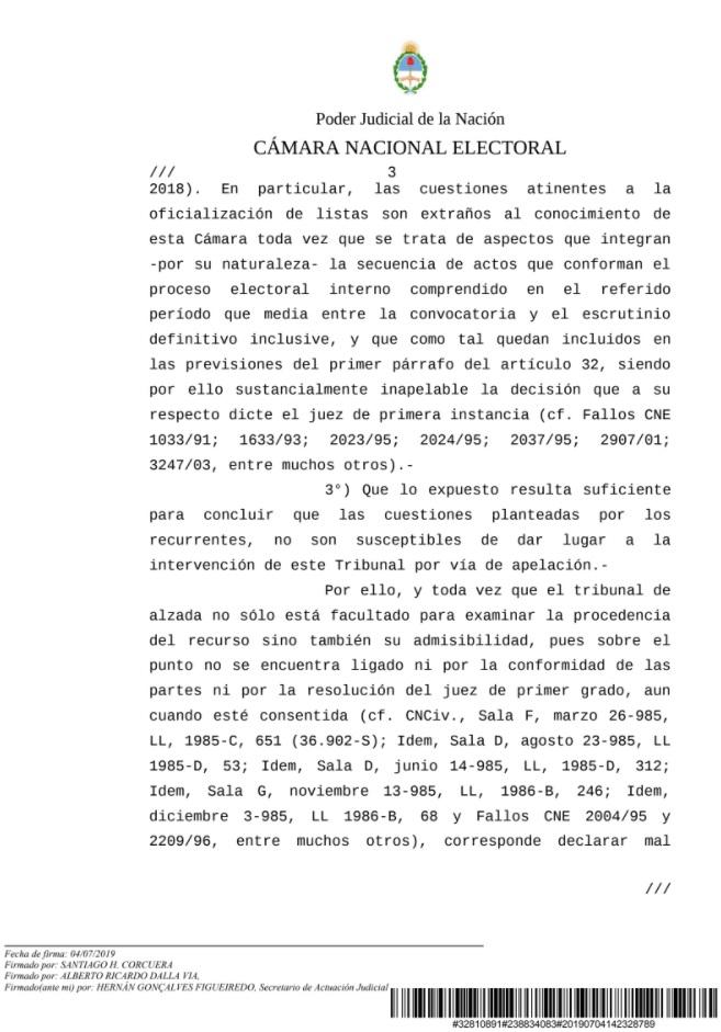 CAPTURA NOTIFICACION CAMARA NACIONAL ELECTORAL TEMA UCR 4