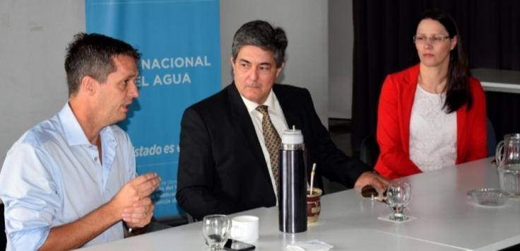 Intendentes de Misiones con autoridades de ENOHSA y de Energía, Sergio Lanziani