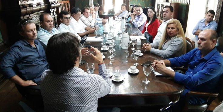 Intendentes de Misiones con autoridades de la Agencia Nacional de Discapacidad