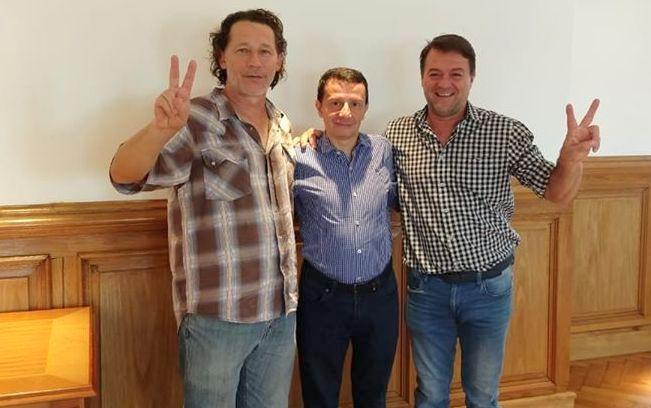 Pays Páez y Héctor Bárbaro con el Jefe de Gabinete del Ministerio de Desarrollo Social de la Nación1