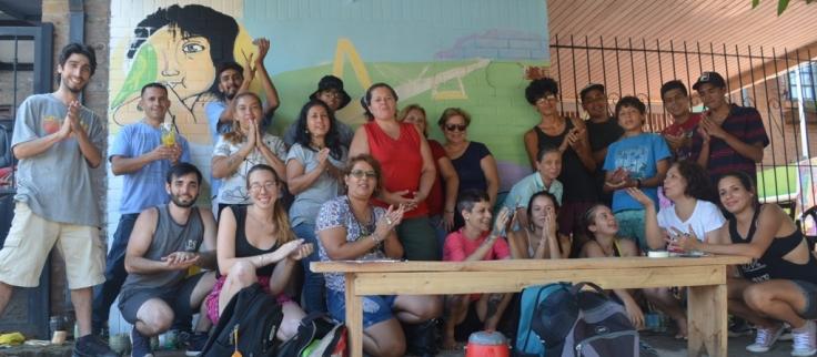 Taller de Muralismo a cargo de las artistas plásticas, Mariana Gómez y Daniela Azida