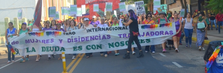 Movilización del 4to Paro Internacional de Mujeres y Disidencias Trabajadoras1