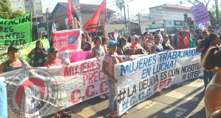 Movilización del 4to Paro Internacional de Mujeres y Disidencias Trabajadoras11